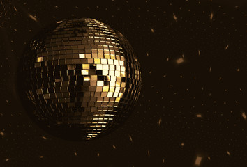 golden disco ball