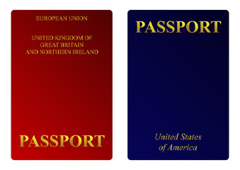 American and British passports