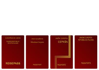 German, French, Spanish and Italian passports