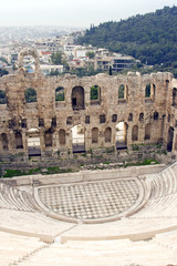 The Odeon of Herodes Atticus in Athens, Greece.