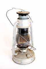 isolated antique oil lamp