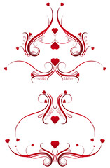 Decorative ornament  with lovely heart , vector illustration