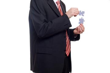 Homme et concept puzzle