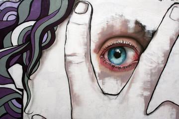 ojos. sentido de la vista en graffiti