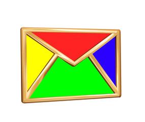 Mail button for sending messages via internet