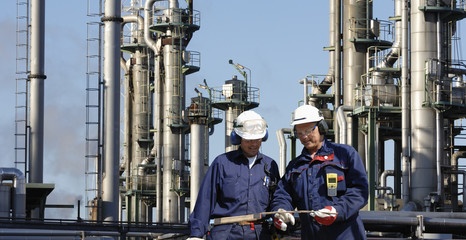 engineer inside oil and gas industry