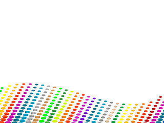 Vector halftone colorful dots background.