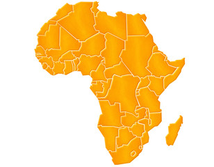 Carte Afrique Sable