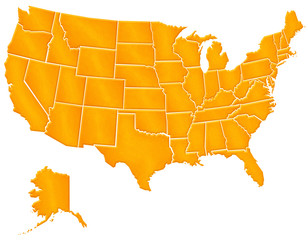 Carte Etats Unis Sable