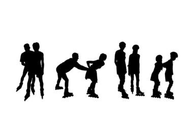 inline skater - paare