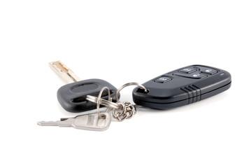 Car keys and charm from car alarm system