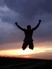 Man in a jump