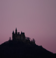 A photograph of the castle Hohenzollern in germany
