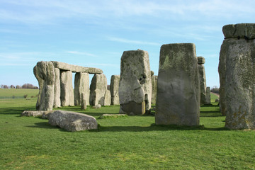 A Photograph of a the mystical stonehenge