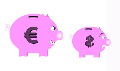 euro mangia dollaro!
