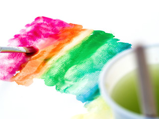 Paintting rainbow