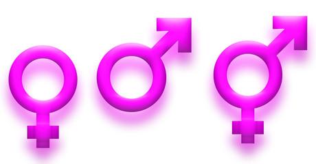 Gender symbols pink