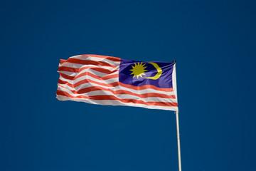 waving Malaysia flag
