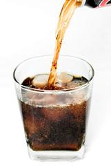 cool glass of soda