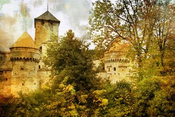 Swiss castle - artistic picture