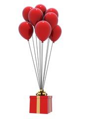 luftballons mit geschenk