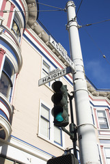 Haight Street Sign & Victorian Home