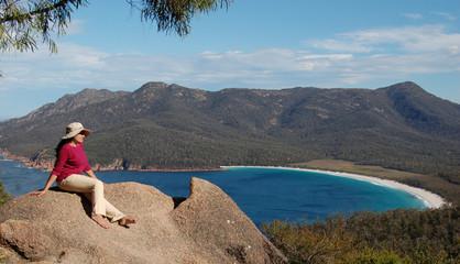 Wineglass Bay, Freycinet National Park, Tasmania, Australia....