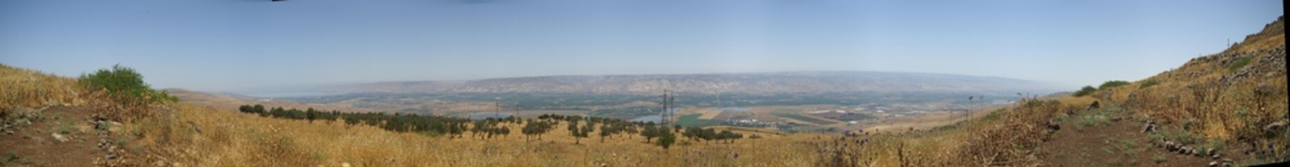 Mountains and nature in Galilee, Israel
