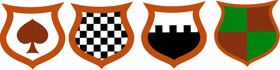Heraldic Shield Pattern