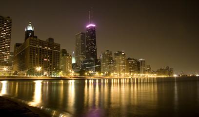 Panoramic of Lake Shore Drive Chicago