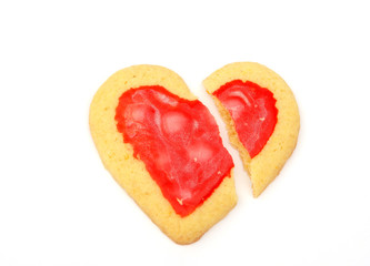 broken heart cookie