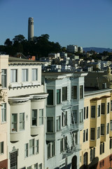 Houses on Russian Hill, San Francisco, California, USA.