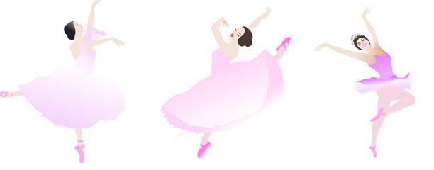 bannière de danseuses sur fond blanc