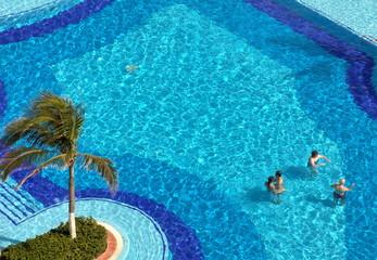 Cool blue pool