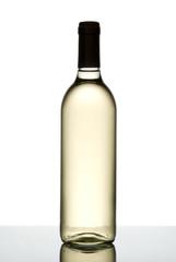 Bottle of white wine isolated on white.