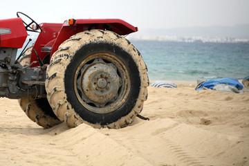 the big tractor's wheel,tunisia
