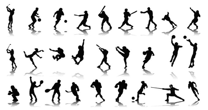 People silhouettes - Sports