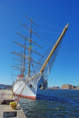 Old sail fregat in the harbour