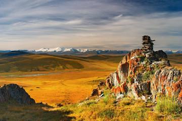 Wall Mural - Mountain view, Plateau Ukok