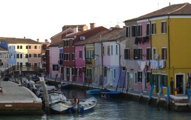 Fotobehang Stad aan het water Burano, Venezia