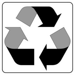 Recycling im Rahmen - sw