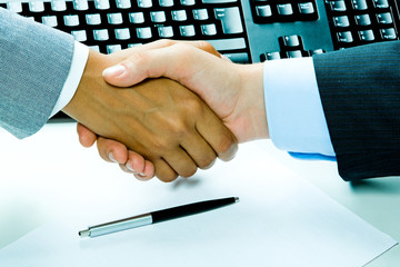 Business people's handshake after making an agreement