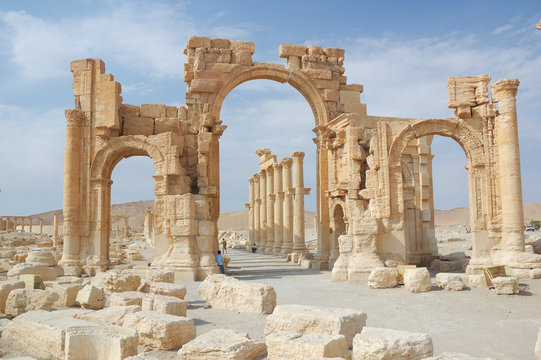 City of Palmyra -  ruins of the 2nd century AD