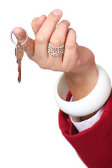Womans Hand Holding Keys
