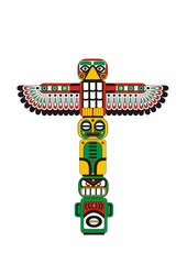 Totem pole Indian
