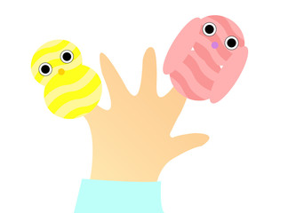 striped finger puppets