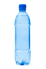 Bottle of water, isolated on white background