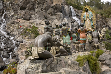 Statue Virgin Mary  Appearing Juan Diego Guadalupe Shrine