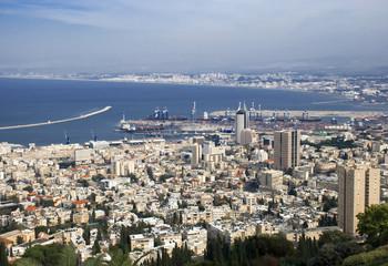 Panorama of Haifa city from Israel