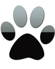 Black gel dog paw print